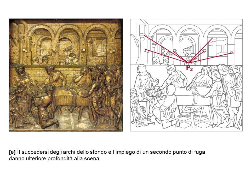 [e] Il succedersi degli archi dello sfondo e l'impiego di un secondo punto di fuga
